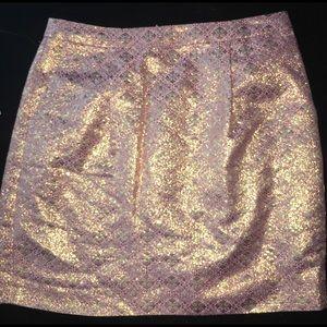 Jcrew metallic sparkle pencil skirt size 6